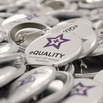 eQuality printed badges and stickers
