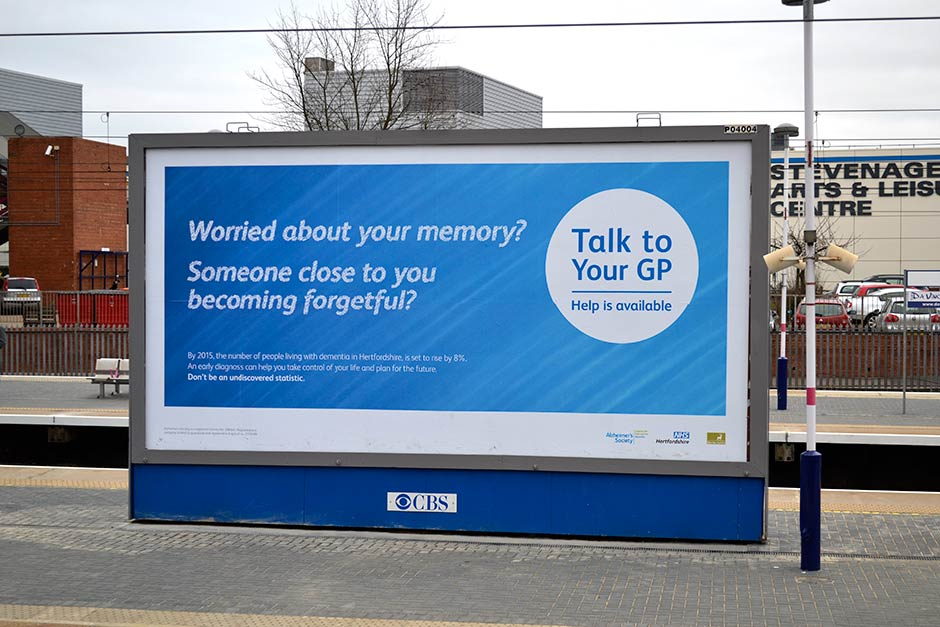 stevenage dementia billboard design