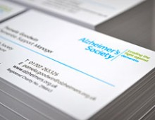Alzheimer's Society Business Cards