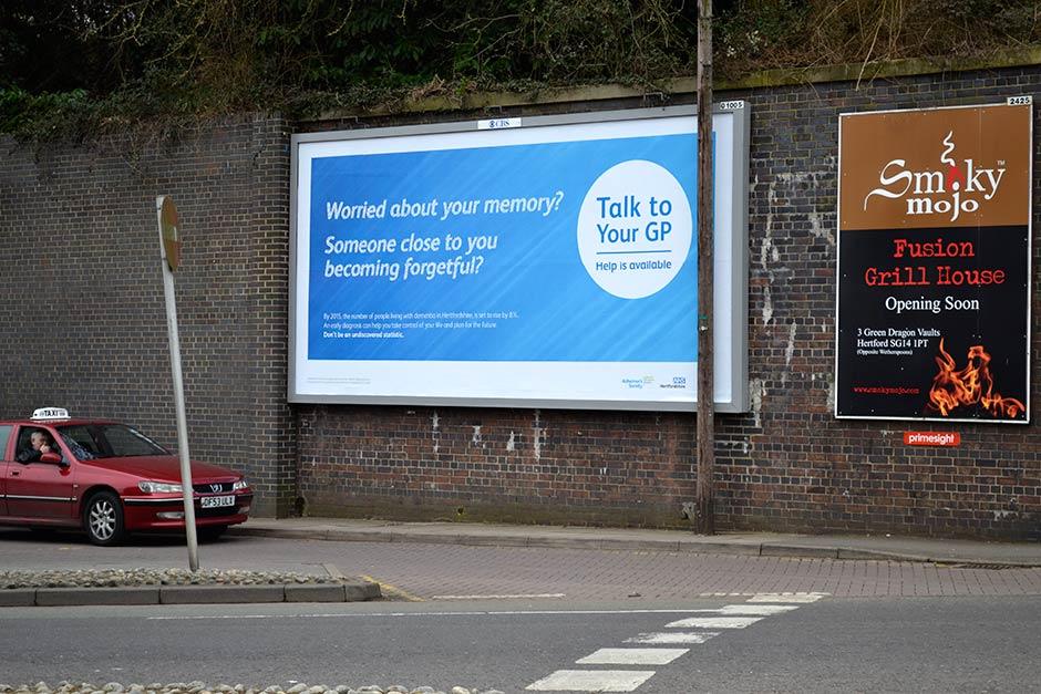 hertford dementia billboard design