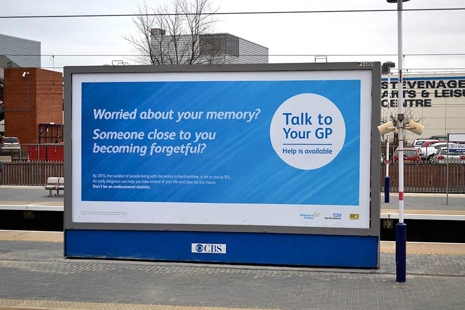 stevenage dementia billboard design